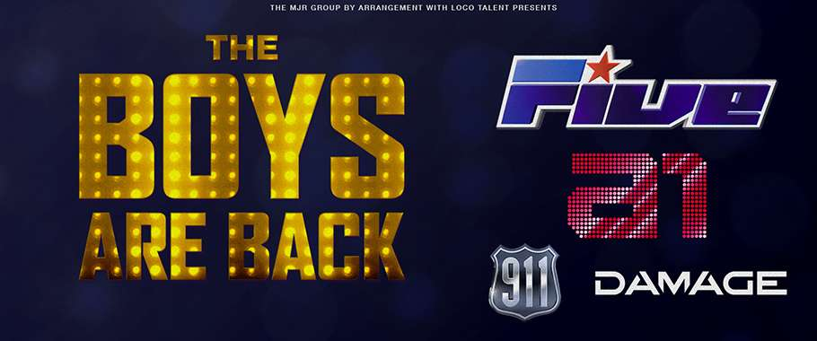 The Boys Are Back! 5ive / A1 / Damage / 911