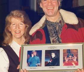 Cindy in 1995 with Matthew Kelly