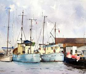Fishing Boats at Poole Quay