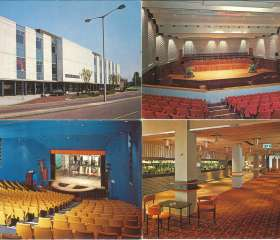 Postcards of the arts centre in the 1970s