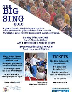 Rising Voices 2018 Big Sing